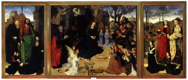 GOES, Hugo van der  Portinari Triptych  1476-79  Oil on wood, 253 x 586 cm  Galleria degli Uffizi, Florence