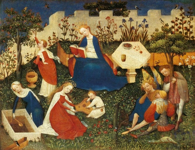 Master of the Upper Rhine The Garden of Eden c. 1410  Tempera on wood, 26,3 x 33,4 cm  Städelsches Kunstinstitut, Frankfurt